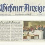 Gießener Anzeiger vom 25.4.2013