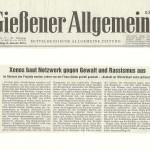 Gießener Allgemeine vom 8. Janaur 2013
