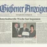 Gießener Anzeiger vom 24. September 2012