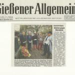 Gießener Allgemeine vom 6. November 2012