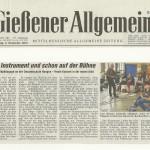 Gießener Allgemeine vom 9. November 2012