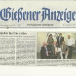 Gießener Anzeiger 30. August 2012