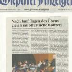 Gießener Anzeiger vom 8. November 2012