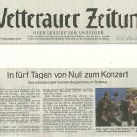 Wetterauer Zeitung 27.11.2014