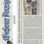 Gießener Anzeiger vom 31.07.2014