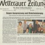 Wetterauer Zeitung vom 14.11.2013