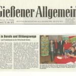Gießener Allgemeine vom 15.05.2013