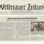Wetterauer Zeitung vom 14.11.13