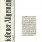 Gießener Allgemeine vom 17.09.2013