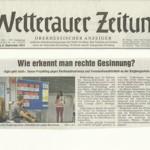 Wetterauer Zeitung vom 8. September 2012