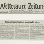 Wetterauer Zeitung vom 1. November 2012