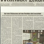 Wetterauer Zeitung vom 13. November 2012