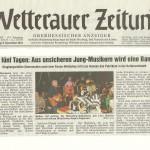 Wetterauer Zeitung vom 6.12.2012