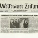 Wetterauer Zeitung 26. April 2012