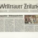 Wetterauer Zeitung 20. Juni 2012
